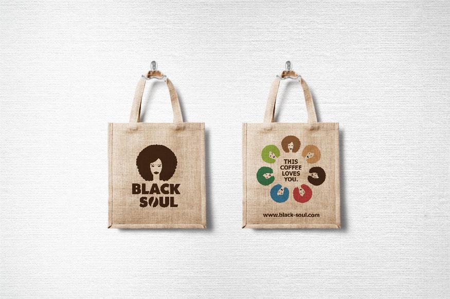 Tragetasche Design Black Soul